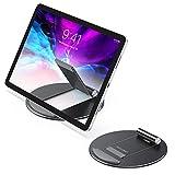 OMOTON Soporte Tablet, Multiángulo Soporte Tableta para iPad Pro/Mini/Air, Samsung Tab y Otros Teléfonos Móviles, Soporte de Aluminio para Tablet y Kindle de 4-10,5 Pulgadas, Negro.