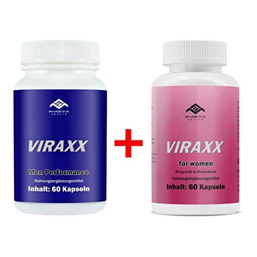 Viraxx Mann und Viraxx Frau | Lust, Leidenschaft & Liebe | 2x 60 Kapseln