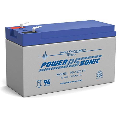 Power Sonic New 12V 7AH Sealed Lead Acid Rechargeable Battery Used in Security Fire Alarm