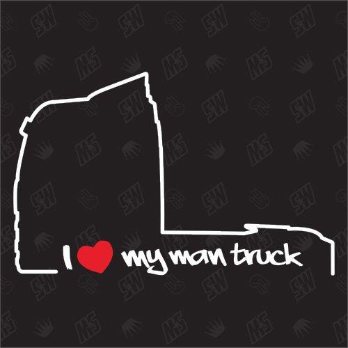 speedwerk-motorwear I Love My Truck TGX, TGS - Sticker für Man - ab Bj. 2007