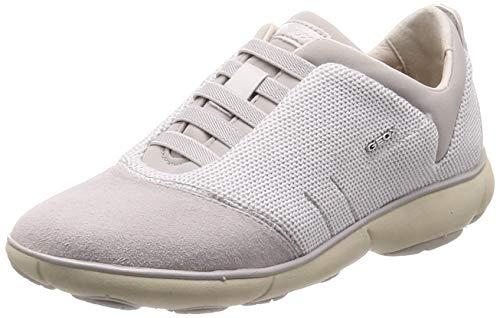 Geox Damen D Nebula C Sneaker, Weiß (White/Off White C1352), 39 EU