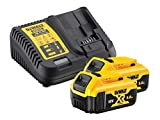 Dewalt B DCB184 5.0ah 18v XR Lithium Ion Battery Twin Pack   DCB115 Charger, Yellow