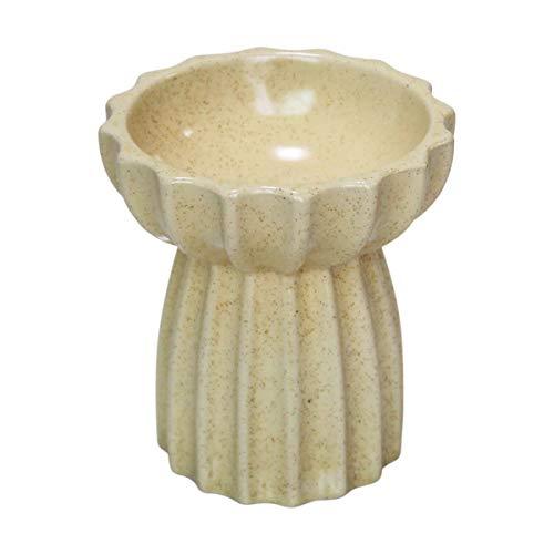 【 食べやすい 】iikuru 猫 食器 陶器 フードボウル スタンド 脚付 食べやすい 猫用 餌皿 ねこ 餌入れ ウォーターボウル セラミック 犬 子猫 ご飯 皿 食器台 ペット食器 y788