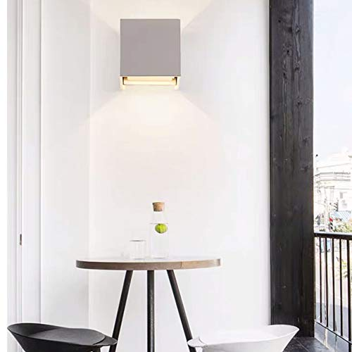 Applique Minimaliste Chambre nuit Nordic étanche extérieur Balcon Salon mur lampe LED Creative 10 * 10 * 10CM