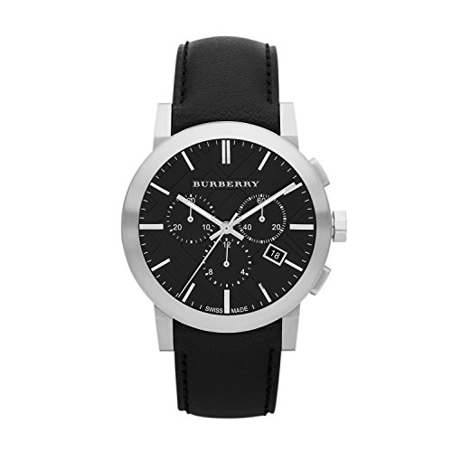 Burberry Leather Chronograph Mens Watch BU9356