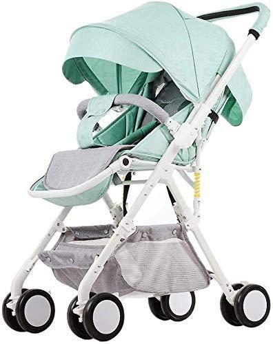 Upgrade Triciclo Triciclo para niños 2 en 1 Cochecito de bebé Ligero Cochecitos de bebé Recién nacidos Siéntese acostado Cochecitos plegables para niños Carro portátil Triciclo de viaje para bebé Sill