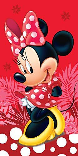 Jerry Fabrics Disney Minnie Maus Strandtuch Badetuch 70cm x 140cm