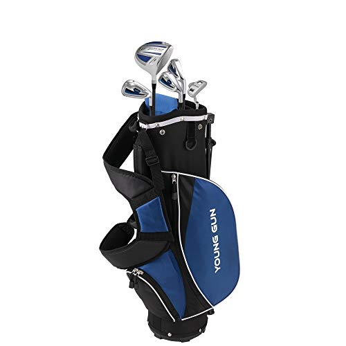 Young Gun ZAAP ACE Junior golf club Youth Set bag for kids BLUE Ages 6 8