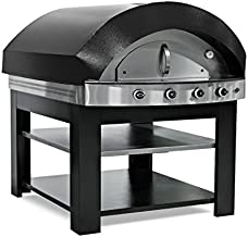 Horno de gas para pizza – Negro – con base