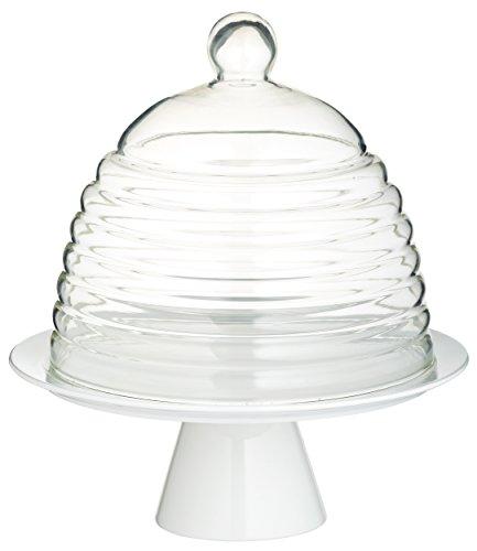 Kitchen Craft Sweetly Does It - Soporte para tartas con tapa (28 cm, cristal)