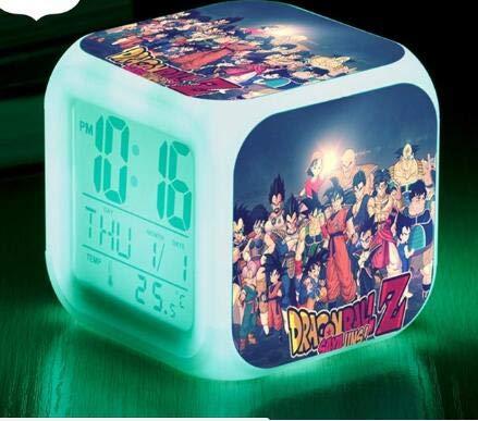 hulinhai Snooze Reloj Despertador, Bola de dragón, Despertador LED, Reloj Despertador para niños, Reloj Digital, lámpara multifunción, Regalo + Caja