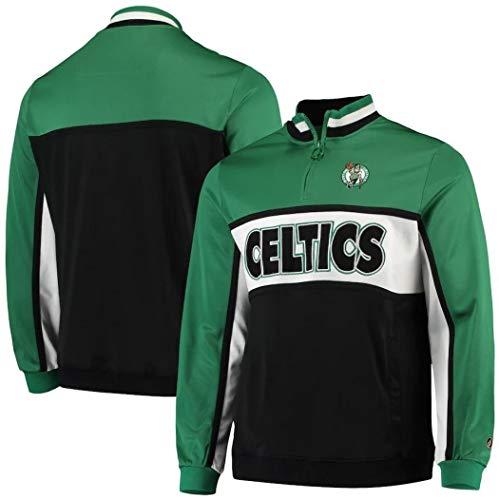 FISLL NBA Men's Interlock Quarter Zip Jacket, Boston Celtics Medium
