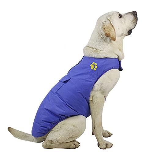 Chaleco de invierno para perros,abrigo para perros,con velcro,fácil de llevar,de ajuste fino,revestimiento impermeable,resistente a la suciedad y fácil de limpiar,con cursor reflectante nocturno.