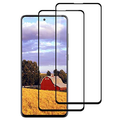 Preisvergleich Produktbild DOSNTO Panzerglas Schutzfolie für Samsung Galaxy A51 (2 Stück),  3D Vollständigen Abdeckung,  9H Härtegrad, Anti-Bläschen,  Anti-Kratzen, Hülle Freundllich Panzerglasfolie für Samsung Galaxy A51