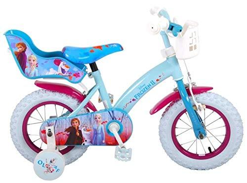 Disney Frozen 2 Kinderfahrrad 12 Zoll Rücktrittbremse Korb Puppensitz