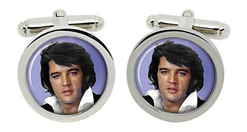 Gift Shop Elvis 1972 Manschettenknöpfe in Chrom Kiste