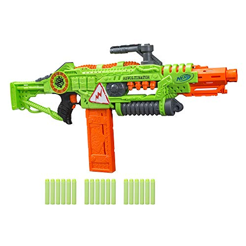 Revoltinator Nerf Zombie Strike Toy Blaster with motorized Lights Sounds & 18 Official Darts for Kids, Teens, & Adults