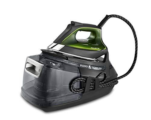 Rowenta DG9248 Silence Pro - Centro de planchado, autonomía ilimitada, 8 bares, golpe vapor 600 g/min, suela Microsteam, función ECO y depósito cal, 1.3 litros