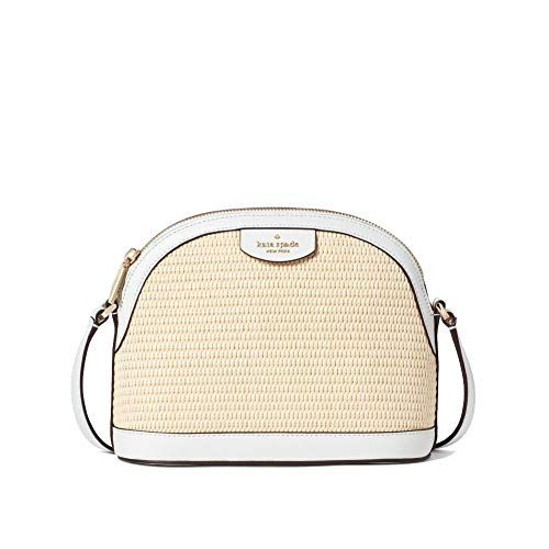 Sylvia Straw X Large Dome Crossbody Bag White Dove