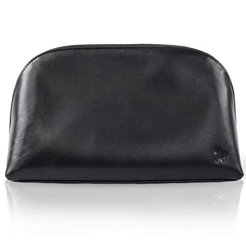 Bulllazo Cosmo, elegante dames toilettas make-up tas van leer, verschillende Kleuren: zwart