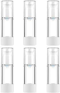 6個入り 小分けボトル 真空ボトル トラベルボトル 海外 温泉 旅行ボトル プラスチック容器 詰め替え容器 乳液などの半流動液体用 化粧品 透明無色 (30ml, 透明)