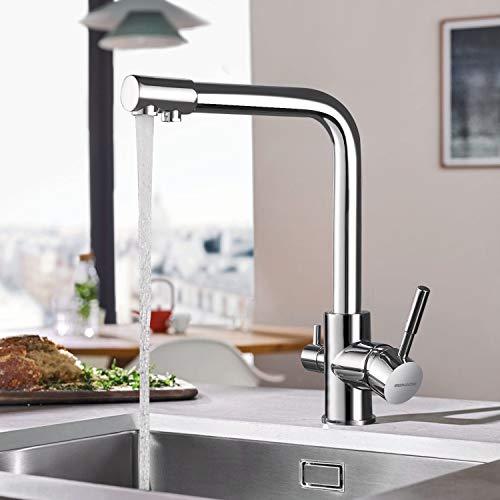 BONADE 3 Vie Rubinetto Cucina per Sistemi Osmosi, Miscelatore Cucina con Filtro...