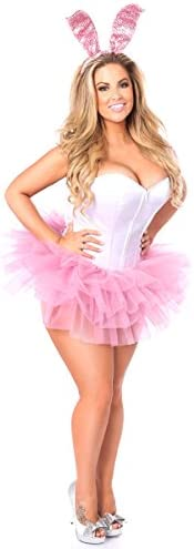 Daisy Corsets Women s Lavish Plus Size Innocent Bunny Corset Costume Pink 6X product image