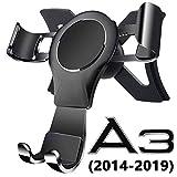 AYADA Handyhalterung für Audi A3 8V S3 RS3 8V, A3 Handyhalterung S3 Handyhalterung Gravity Sperre Aluminium Hände Frei Stabil Ohne Jitter Einfache Montage A3 Zubehör A3 8V Zubehör 2016 2017