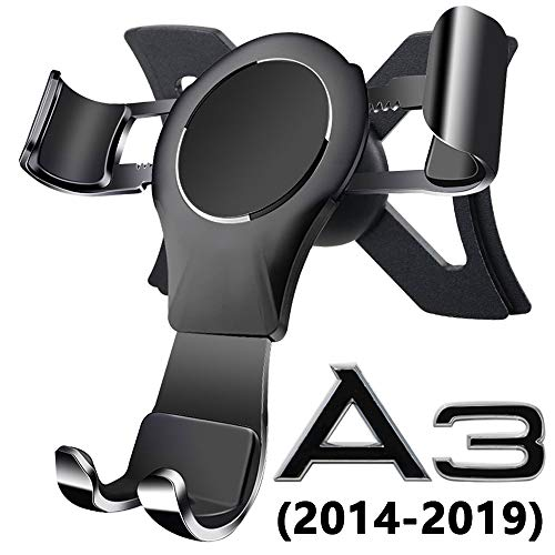Porta Cellulare da Auto per Audi A3 / S3, 360 Rotatable Porta Cellulare Auto Gravity Smartphone Supporto Metallo Lega di Alluminio Universale Audi Phone Holder Car Phone Holder