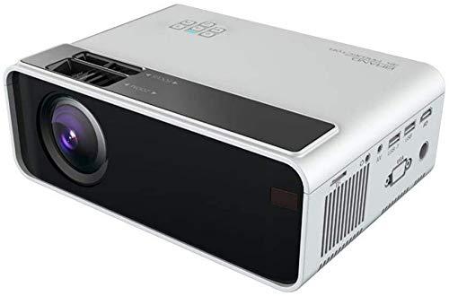 SAFGH Proyectores, Ministerio del Interior HD 1080P WiFi Resolución 1280X800 con Control de Voz Inteligente Proyección Portátil de Voz AI, Blanco
