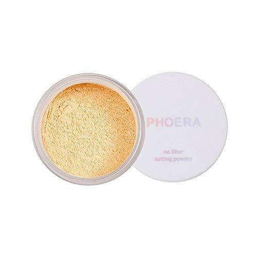 PHOERAFace Powder, Firstfly Loose FacePowder Translucent Smooth Setting Foundation Makeup, 1.02 Oz (#03 Banana)