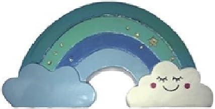 Enfeite Arco Iris Cofre de Porcelana 17X05X09C Azul