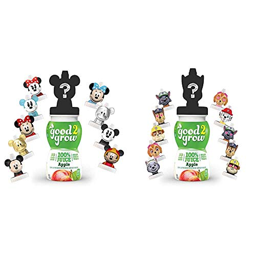 good2grow Mickey and Minnie Collector Pack 100% Apple Juice, 6-Pack of 6-Ounce Spill-Proof Character Top Bottles & Paw Patrol Collector...