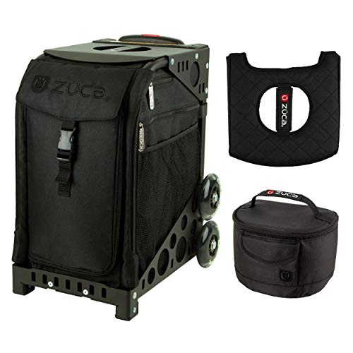 Zuca Sport Bag - Stealth with Gift Lunchbox and Seat Cover (Black Frame)