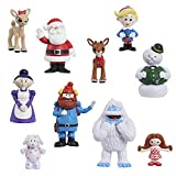 Just Play Rudolph The Red-Nosed Reindeer Figure Set, 10-Piece Figure Set