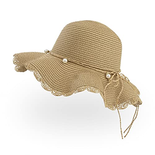 Sombrero de Paja para Mujer, Sombreros de Playa de Verano ala Ancha...