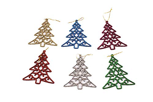 Buy and buy at Brandon Christmas Tree Ornaments 9Cm Glitter Color Pentagram Snowflakes 6 Pack Christmas Decoration Pendant OrnamentsChristmas TreeA