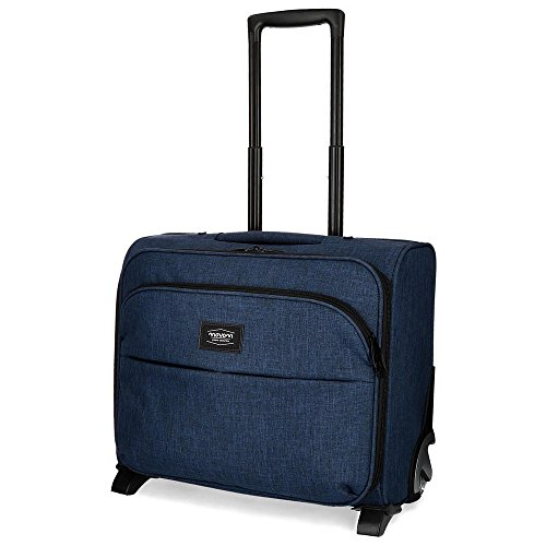 Movom Ottawa Maleta de cabina Azul 43x39x22 cms Blanda Poliéster 30.8L 2,5Kgs 2 Ruedas Equipaje de Mano
