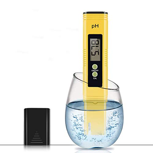 Digital PH Meter, PH Meter 0.01 High Accuracy Resolution Pocket Size Water Quality Tester with ATC 0-14 pH Measurement Range for Household Drinking Water, Aquarium, Swimming Pools, Hydroponics