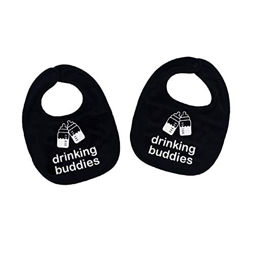 Drinking Buddies Twins Baby Bibs
