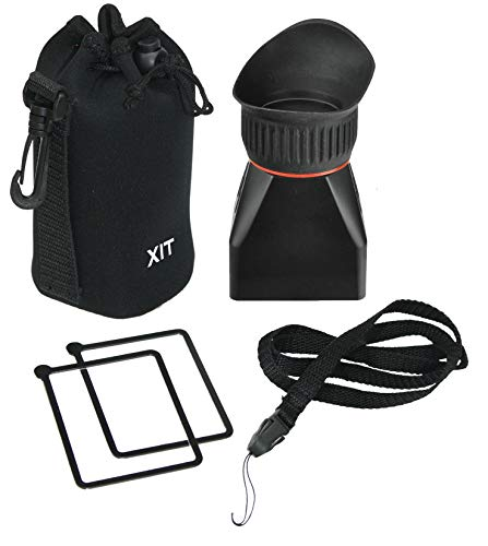 Xit XTLCDMV Professional LCD Viewfinder with 2X Magnification (Black)