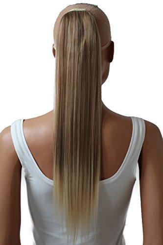 PRETTYSHOP 60cm Haarteil Zopf Pferdeschwanz Haarverlängerung Glatt Dunkelblond Mix HC26
