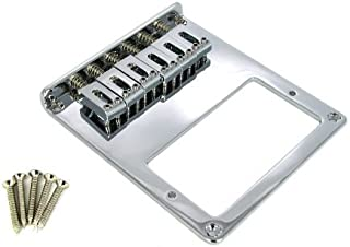 Telecaster(tm)-style Bottom-Loading Chrome Electric Guitar Bridge Plate for Humbucker Pickups