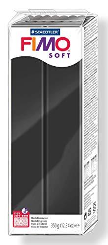 Staedtler 8022-9. Pasta para modelar Fimo Soft, color negro. Caja con una pastilla de 350 g