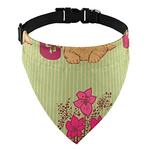 Cute Golden Retriever Animal Pet Dog Collare per martingala Cane Sciarpa per Cani Accessori per Cani da Compagnia Accessori per Costumi da Compagnia p
