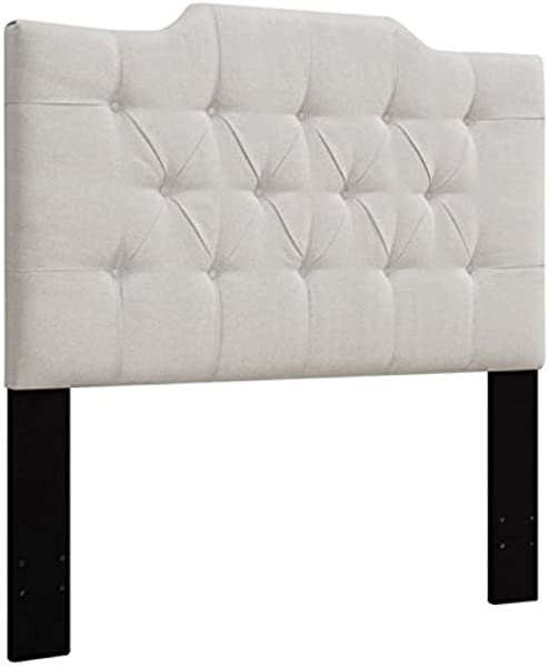 Pemberly Row Upholstered King California King Panel Headboard In White