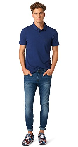TOM TAILOR Denim Jeanshosen Aedan Slim Jeans mid Stone wash Denim, 32/32