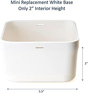 """Kitchen Safe Mini White Base Replacement - 2.0"""" Height"""