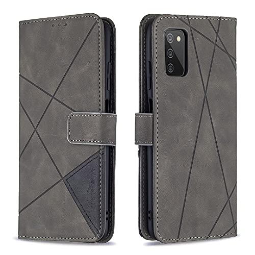 Coque Portefeuille pour Samsung Galaxy A03S 6.5inch Housse Protection en Cuir avec Support Porte Carte Antichoc Case Étui pour Galaxy A03S - JEBF230040 Gris