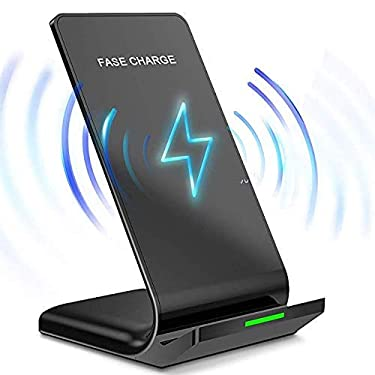 10W/7.5W Fast Wireless Charger Stand for Samsung Galaxy Note 20 Ultra/S20/S10+/S10e/S9/ S8+/ S7 Edge Note 9/8 Qi Certified Charging Dock for iPhone SE(2020)/11/12 Mini/ 12 Pro Max/X/XS Max/XR